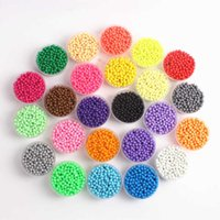 30 Bags Solid Bead Refill Pack 24 Color Sticky Perler Pegboard Set Jigsaw Educational Toys Painting Puzzle Game Wholesale