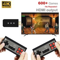 Portable Game Players Video ConsoleUSB Wireless Handheld TV Mini Console Build In 818 Classic 8 Bit Games Dual Gamepad -Compatible Outpu