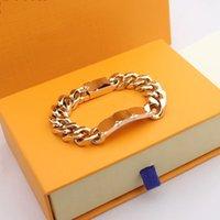 Designer di alta qualità argento amore braccialetto uomo donne bracciali in oro catena moda personalità hip-hop