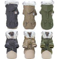 Yumuşak Sıcak Köpek Giysileri Kış Giyim Köpekler Için Ceket Kalınlaşmak Pet Yorkshire Rus Hava Durumu 35s Giyim