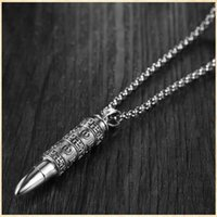 Pendant Necklaces Tibetan Silver Personality Buddhist Mantra Amulet Necklace
