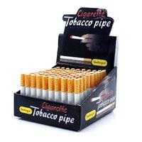 Cigarette Shape Smoking Aluminium Alloy Metal One Hitter Tobacco Pipe Portable scale Good Creative Retail Wholesale
