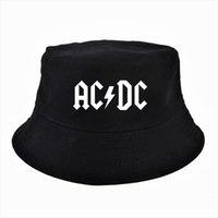 Männer Frauen Rock Band AC DC Hut Fan Cool Sommer Fischer Panama Sun Cap Outdoor Jagd Angeln Eimer Hüte