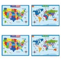 60 * 45 cm América Mapa Mapa Pegatinas de pared Niños Geografía Aprendizaje Educación de la primera infancia América Mapa Cartel Gráfico Classroom T2I52317