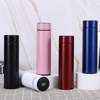 Water Bottles Stainless Steel Vacuum Flask Smart LCD Contact Screen Display Temperature For Travel Coffee Mug Tea Milk Thermo Cup