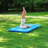 Uso doméstico 10 pies gimnasia inflable Tumbling Mags 4 pulgadas Mats de espesor / entrenamiento / porristadora / yoga / agua con bomba electcal