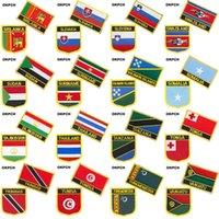 Sri Lanka Slowakei Slowenien Swasiland Nationalflagge Gesticktes Eisen auf Patches für Kleidung Metallabzeichen DIY Säge auf Patches