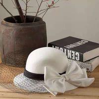 Hepburn style all-match bridal net yarn headgear hat factory direct supply wholesale type unlimited charm