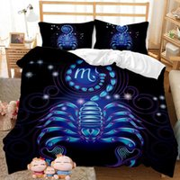 Bedding Sets Recommended Fall winter Boy And Girl Family 3D Fashion Constellation Duvet Cover 2   3PCS Cute Bed Sheet Set