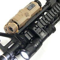 IFM CAM Taktik İzci Işık Tabancası Işık Zor Anodize Alüminyum QD Cree LED Çift Çıkışlı El Feneri Siyah / Karanlık Dünya