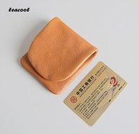 Coin Purses LEACOOL 2021 High Quality Genuine Leather Purse Men Women Mini Bag Cowhide Individuality