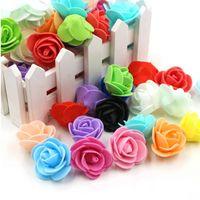 500 stks / partij Mini PE Foam Rose Flower Head Artificial Rose Flowers Handmade DIY Wedding Woondecoratie Feestelijke Feestartikelen 1500 T2