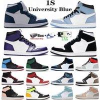 1 1S hommes femmes chaussures de basket de basket Université Blue Twist Bio Hack Toe Court Violet Obsidian Unc Tie Cravate Coly Cadre Carnets de sport vert