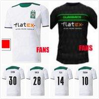 21 22 Borussia Monchengladbach Jerseys de fútbol 2021 2022 Hogar Gladbach Elvedi Pleas Zakaria Neuhaus Ginter Thuram Men Kit Kit Foootball Shirts
