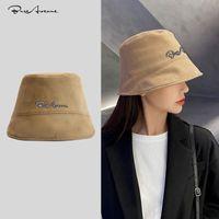 패션 Stingy Brim Hats Bure Avenue 버킷 모자 여성의 봄과 가을 새로운 스웨이드 패션 썬 스크린 모자 남자의 한국어 B
