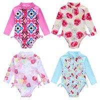 Ircomll ملابس السباحة الطفل 2021 الأزهار طويلة الأكمام فتاة صغيرة بيكيني الاطفال ملابس السباحة الفتيات طفل الأطفال الاستحمام سو واحدة
