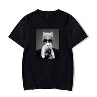 T-shirt de haute qualité Karl de haute qualité Lagerfeld Vogue Femmes Blanc / Noir 100 Coton Casual Gothic Femelle Sleeve Sleeve Sleeve