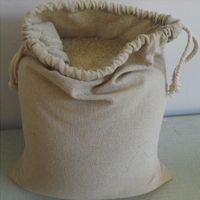 """Sacchetti di stoccaggio del coulisse di lino ingrandisci Sacco 30x40cm (12 """"X16"""") Confezione da 10 sacchetti di imballaggio dei monili del cibo del caffè del caffè"""