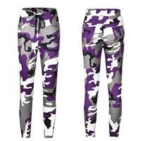 Fuetage camouflage imprimer femmes pantalons stretch taille haute taille arc mince décontracté femme d'été mode de mode rue 2021 Capris pour femmes