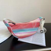 Evening Bags Mini Color Canvas Women's Messenger Bag 2021 Dumpling Japanese Cute Shoulder Purses And Handbags Luxury Designer