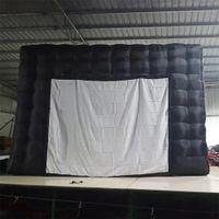 تخصيص فيلم أسود خيمة نفخ مسرح مكعب سرادق ديسكو معرض حزب المنزل مع شاشة الإسقاط النادرة على الخصم