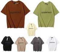 2021 летние весенние мужские топы футболки мужчина и женщина хлопчатобумажная рубашка дизайнер одежда хип-хоп модные рубашки свободные унисекс мужские женщины негабаритные удобные модели тумана