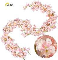 Fleurs décoratives couronnes 190cm artificielles fleur de fleur de fleur de fleur de soie suspendue guirlande de soie pour la fête de mariage décor à la maison japonais kawaii
