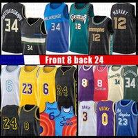Ja 12 Morant Giannis 34 Antetokounmpo Jersey Basketball Los 23 6 8 Angeles Anthony 3 Davis Kyle 0 Kuzma Alex 4 Caruso Jerseys Black Manba 2021 Space Jam 2 Tune Squad