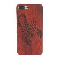 Скорпион Экологический смартфон Чехол для iPhone XR XS MAX Чехол для телефона Деревянная крышка для iPhone X Case