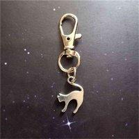 Regalo, Gioielli da strega, Keychain di Halloween, Kitten Lover Keychain, gatto regalo