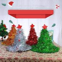 حزب القبعات عيد الميلاد الديكور شجرة عيد الميلاد قبعة على عقال الاطفال اللوازم سانتا تنكرية زي عطلة ديكور أغطية الرأس
