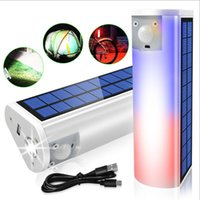 Solar Lamps Multifunctional Light 650lm Portable Flashlights Torches Phone Charger Outdoor Indoor Waterproof Lamp For Camping