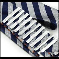 Kol Düğmeleri Klipsler, Tacks Damla Teslimat 2021 Geometrik Kaplama Sier Metal Erkekler için Basit Klip REC 4 CM Kısa Klipler Moda Düğün Business T