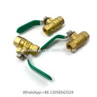 Watering Equipments Brass Shut Off Ball Valve Hose Adapter, 3 8'' Slip Lock Quick Connector For Garden Irrigation Mist Cooling System