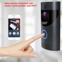 Venta inteligente video wifi puerta portátil inalámbrico puerta teléfono720p cámara de campana energía batería de dos vías Audio PIR Alarma Teléfonos de alarma