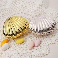 Matrimonio Bomboniera Box Regalo Convettore FAI DA TE Bright Colors Shell Shape Forges Forniture per feste Surprise Candy Storage Teatime Bilancio Bilancio Custodia DHE5739