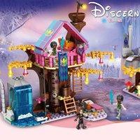 Leduo 7006 Волшебное Дерево Дом Лед и Снег Девушка Головоломка Небольшая Частица Сборная Строительный Блок Детский Игрушка Подарок