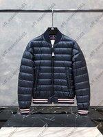 İnce Erkek Aşağı Ceket Fransa Marka Yan Kol Büyük Logo Ceketler Sonbahar ve Kış Yüksek Kalite Ceket