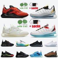 2021 Erkek Bayan 720-818 Koşu Ayakkabıları 720s Kayma Obj Takımı Turuncu Erkek Sneakers Summit Beyaz Sarı Aksan Üniversitesi Mavi Kargo Haki Spor Eğitmenleri