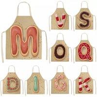 Письмо шаблон кухонный фартук без рукавов хлопчатобумажные льняные детские фартуки для приготовления выпечки барбекю