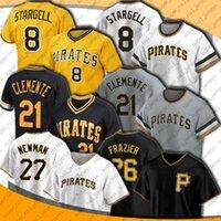 Piratas 21 Roberto Clemente Jersey Pittsburgh 26 Adam Frazier 27 Kevin Newman Jerseys Mitch Keller Gregory Polanco Jersey Willie Stargell