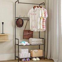 Perchas Racks Simple Coat Stay Landing Ropa Titular Percha de suspensión Piso Estante Estante Estante Estilo Estilo Dormitorio Mobiliario