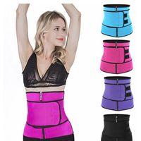 2021 Body Shaper Slimming Wrap Belt Waist Trainer Cincher Corset Fitness Sweat Belt Girdle Shapewear Plus Size Women Mens Fajas Sauna