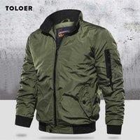 Военная куртка мужская тонкий бомбардировщик зимние мужчины Верхняя одежда Повседневная длинные рукава Джекаты и пальто мужская одежда плюс размер 211008