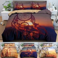 Bedding Sets HD Printing DreamCatcher Design 2  3PCS Bed Duvet Cover Quilt Set Linen Single Twin Double Full Queen King Size