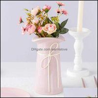 Decorative Festive Party Supplies Gardendecorative Flowers & Wreaths Artificial Fake Peony Silk Bridal Bouquet Hydrangea Home Wedding Decor