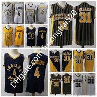 2021 Новый мужской Виктор Оладипо Джерси 4 мужчины Баскетбол Reggie Miller 31 Униформа сшитые дома ВМС Синие черно-белые желтые серые рубашки