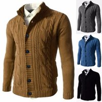 Men's Sweaters Mens Cardigan Casual Solid Colour Long Sleeve Knit Sweater Coat Autumn Winter Fashion Crochet Jackets Knitwear Tops