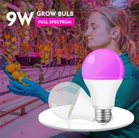 LED Grow Light Bulb Full Spectrum Indoor Growing Lights Plants 9W E27 18leds Growth Lamp Greenhouse Seedling Flower Grows Tent Lamps