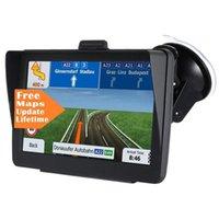 Oto Araba 7 inç GPS Navigator ile Sunshade Kalkanı 8GB 256MB Kamyon Sat Nav FM Bluetooth Avin Navigasyon Ömür Boyu Haritalar Güncellemeler